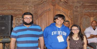 premiação no congresso científico internacional NMR Meeting - Equipe premiada